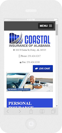 m.Alabamainsuranceagency.net website preview